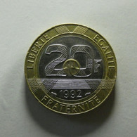 France 20 Francs 1992 With Defect - France