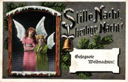 """Weihnachten, Engel, """"Stille Nach, Heilige Nacht"""", Feldpost 1917 - Christmas"""