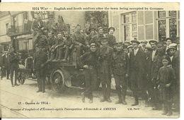 80 - AMIENS / GUERRE DE 1914 - GROUPE D'ANGLAIS ET D'ECOSSAIS APRES L'OCCUPATION ALLEMANDE - Amiens
