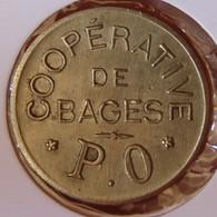 BAGES(66) 1 Franc Coopérative De Bages - Monétaires / De Nécessité