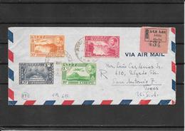 Ethiopia 1948 Multifranked Cover To S.Antonio ,Texas Via New York ( Ref 1087) - Ethiopia
