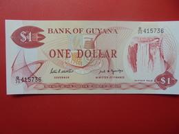 GUYANE 1$ 1966-92 PEU CIRCULER/NEUF - Guyana