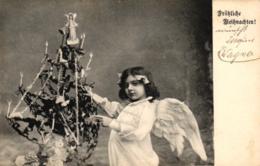 Weihnachten, Engel Mit Christbaum, 1906 - Noël