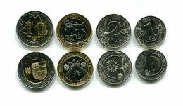 MOLDOVA MOLDAVIA 2018 SET 4 MONETE 1 2 5 10 LEI  CON 2 MONETE BIMETALLICHE UNC - Monedas