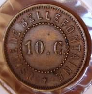 BELLEFONTAINE (88) 10 Centimes Cordier  Et Comp / Usine De Bellefontaine - Monétaires / De Nécessité