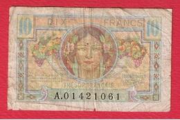 Trésor  -  10 Francs  --  état  TB - 1947 French Treasury