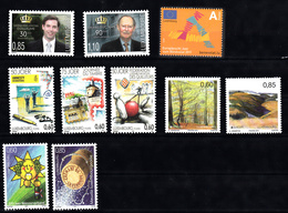 Luxemburg 2011 Mi Nr 1898 - 1907  6 Series Postfris, Prins Guillaume, Groothertog Jean, Dag Va De Postzegel, Europa, Bos - Luxemburg