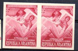 Pareja De Sellos  Nº 510 Sin Dentar  Argentina - Unused Stamps