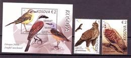 Kosovo 2019  Europa Birds (Bl.+2) MNH - Kosovo