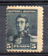 Sello Nº 109 Muestra En Negro  Argentina - Ungebraucht