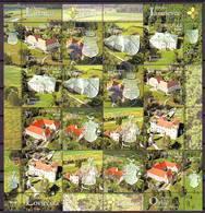 CROATIA 2019 CASTLES   Sheet ( 8 Stams + 8 Label) MNH - Croatie