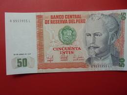 PEROU 50 INTIS 1987 PEU CIRCULER/NEUF - Pérou