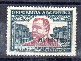 Sello Nº 358  Muestra En Negro  Argentina - Argentina