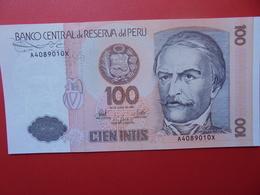 PEROU 100 INTIS 1987 PEU CIRCULER/NEUF - Pérou
