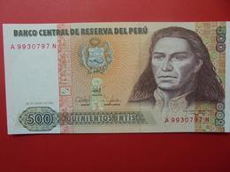 PEROU 500 INTIS 1987 PEU CIRCULER/NEUF - Pérou