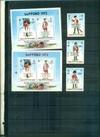 GRENADA J.O. SAPPORO 3 VAL + 2 BF SURCHARGES NEUFS A PARTIR DE 2.50 EUROS - Grenada (...-1974)