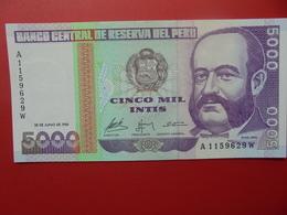 PEROU 5000 INTIS 1988 PEU CIRCULER/NEUF - Peru