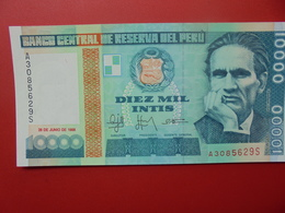 PEROU 10.000 INTIS 1988 PEU CIRCULER/NEUF - Peru