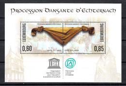 Luxemburg 2011 Mi Nr Blok 27, Processie Echternacht, Unesco - Luxemburg