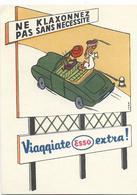 CARTE PUBLICITAIRE ESSO Et Conseil De Sécurité Routière - Publicité