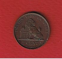 Belgique  -  2 Centimes 1875  -  Km # 4.2  --  état  TTB - 02. 2 Centimes