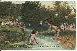 NAISSANCE BEBE MULTIPLE / LE LOUP ET L'AGNEAU - Humorous Cards