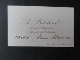 CDV CARTE DE VISITE (V1907) ALEXANDRE BéTOLAUD (2 Vues) Ancien Batonnier - Membre De L'Institut - Cartes De Visite