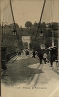 Suisse (FR) Fribourg // Pont Suspendu (animee) Ca 1900 - FR Fribourg