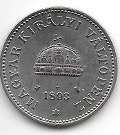 *hungary 20 Filler 1893 Km 483  Vf+ - Hungría