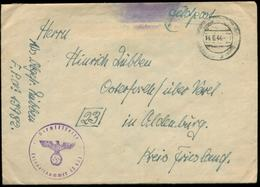 P0980 - DR Feldpost Briefumschlag Führerhauptquartier: Gebraucht FP 13982 - Osterfelde Varel Oldenburg 1944, Bedarfserh - Allemagne
