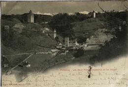 Suisse (FR) Fribourg //Les Deux Ponts Suspendus1902 - FR Fribourg