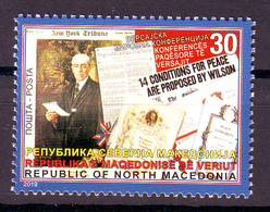 Nord Macedonia 2019 Versai Peace Conference MNH - Macedonia