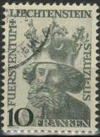 """Liechtenstein 1946: """"Landes-Patron St.Luzius"""" (10 FRANKEN)  Zu 206 Mi 247 Yv 222 Mit Eck-o (Zumstein CHF 50.00) - Liechtenstein"""