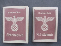 LUXEMBOURG, 2x Carnet De Travail WW2 - Deutsches Reich, Arbeitsbuch, HOVELANGE, LUXEMBOURG, ETTELBRÜCK - 1940-1944 Deutsche Besatzung