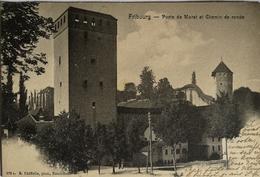 Suisse (FR) Fribourg // Porte De Morat Et Chemin De Ronde (LIGHT FOLD) 190? - FR Fribourg