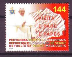 Nord Macedonia 2019 Pope Francesco  MNH - Macedonia