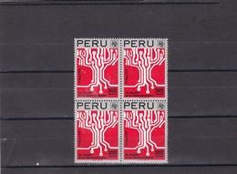 Peru Nº A440 En Bloque De Cuatro - Peru