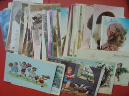 130 JOLIES FANTAISIES LA PLUPART CIRCULEES(BELGIQUE)-START 1 EURO ! (435 Grammes) - 100 - 499 Postcards