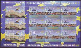 Nord Macedonia 2019 MACEDONIA IN EU Mini Sheets MNH - Macedonia