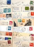 EUROPE...TIMBRES......LOT DE 48 SUR CPSM.CPM.....PF...VOIR SCAN......LOT 34 - Stamps
