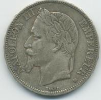 5 Francs Napoléon III (2ème Empire) 1868 BB - Le Franc 331/12 - France