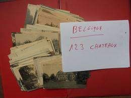 BELGIQUE-123 BEAUX CHATEAUX-START 1 EURO (415 Grammes) - 100 - 499 Postcards