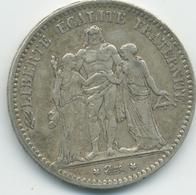 5 Francs Hercule (3ème République) 1875 A - Le Franc 334/14 - France