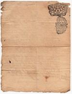 Manuscrit Lettre Jugement 1725 Cachet Généralité D'Orléans Dix Denier Chatillon Sur Loire 2 Pages - Seals Of Generality
