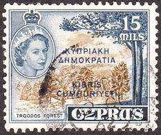 CYPRUS 1960 35m Brownish Bistre & Deep Indigo SG192b Fine Used - Cyprus (...-1960)