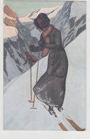 Aufstieg Mit Skiern Im Gebirge           (P-166-70507) - Illustrateurs & Photographes