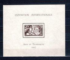 NOUVELLE CALEDONIE  BLOC N° 1  NEUF SANS CHARNIERE COTE  37.70€   EXPOSITION DE PARIS - Blocks & Sheetlets
