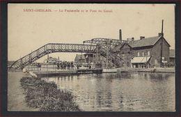 FELDPOST Postkaart Van SAINT-GHISLAIN : La Passerelle Et Le Pont Du Canal ; Staat Zie 2 Scans ! - Saint-Ghislain