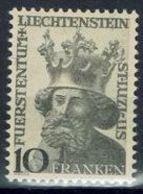 """Liechtenstein 1946: """"Landes-Patron St.Luzius"""" (10 FRANKEN)  Zu 206 Mi 247 Yv 222 * Falz MLH (Zumstein CHF 55.00 - 50%) - Liechtenstein"""