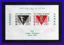 1960 - Cuba - JJOO De Roma - MNH - CU- 246 - 06 - Blocks & Sheetlets